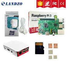New A Raspberry Pi 3 model B Kit with 16 G micro SD card /US power supply /Original case/heat sinks for raspberry pi 3