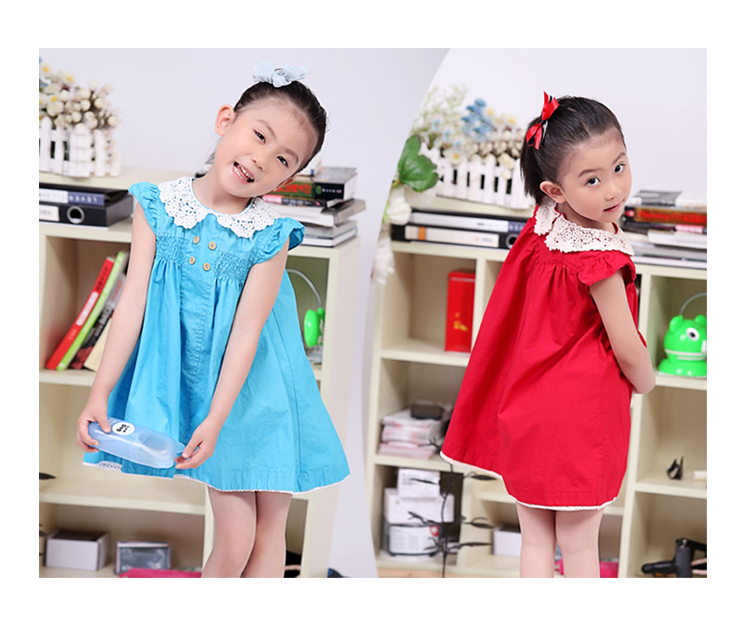 Children Dresses 2016 Kids Dress Design for 10Year Old Girl Sumer Dress Wear Pictures