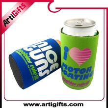 Customized design neoprene bottle beer cooler with promotional gift