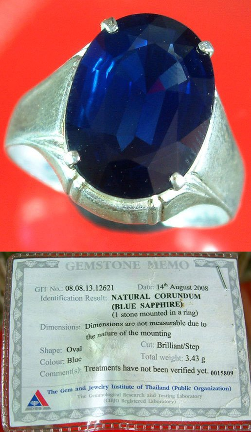 Blue sapphire near flawless rare 6. 99ct (3. 43grams)