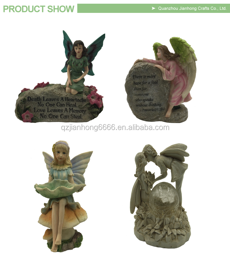 cutomed polyresin garden figurine decoration statues resin fairy