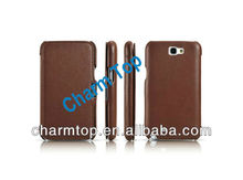 Best Selling Genuine Cow Leather Case for Samsung N7100 Galaxy Note 2