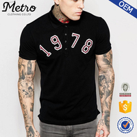 new style fashion custom logo embroidered polo shirts for men