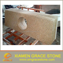 G682 paving stone cubic stone Chinese yellow rusty granite cheap for sale
