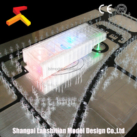 Architectural Model of Public Design, new product plastic miniature scale building model