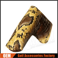 Custom Made 100% Genuine Leather Golf Head Covers/Snake Leather Putter Covers