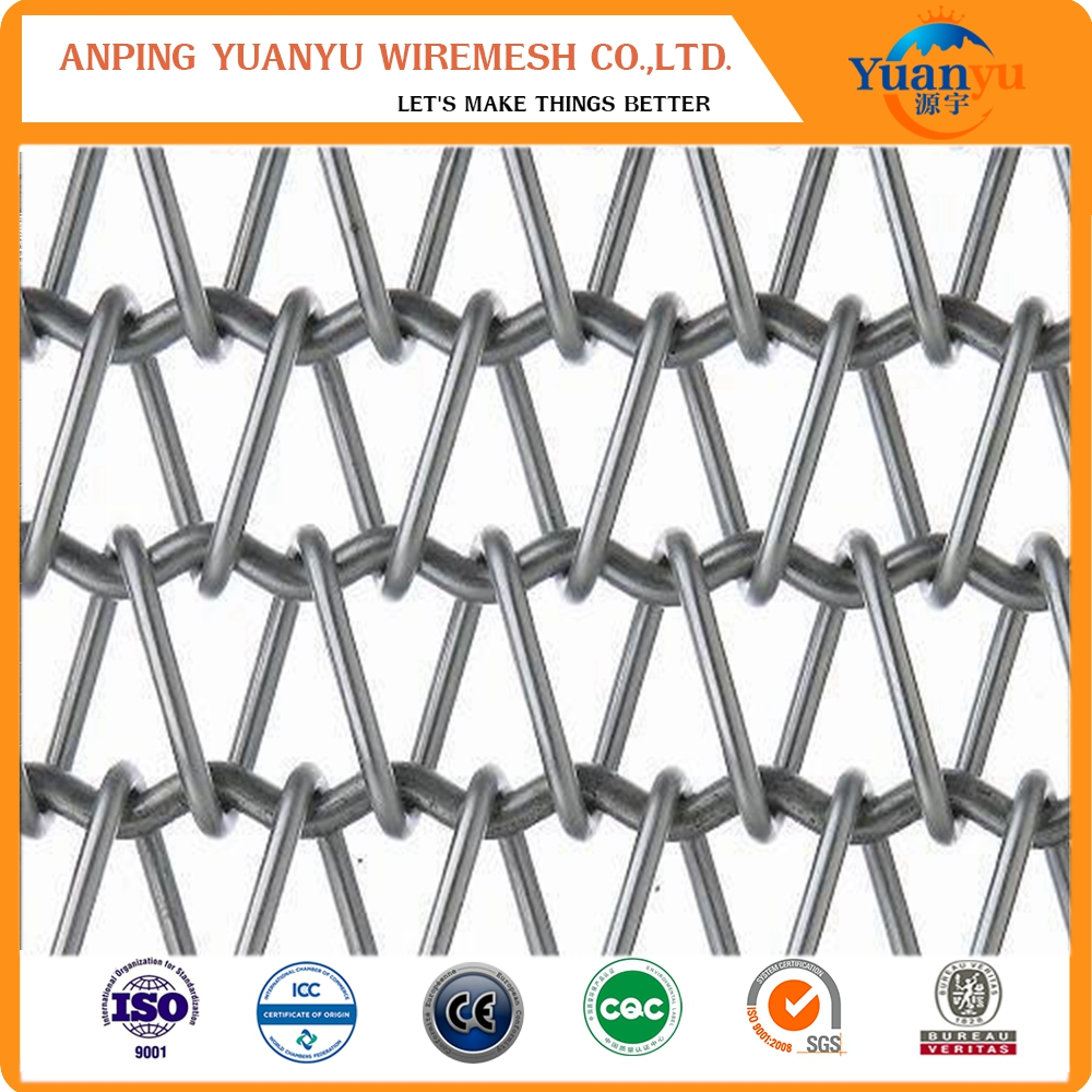 Chain type stainless steel conveyor belt link wire mesh