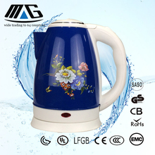 304 stainless steel kettle flower printing blue electric kettle chinese kitchen appliances manufacturers
