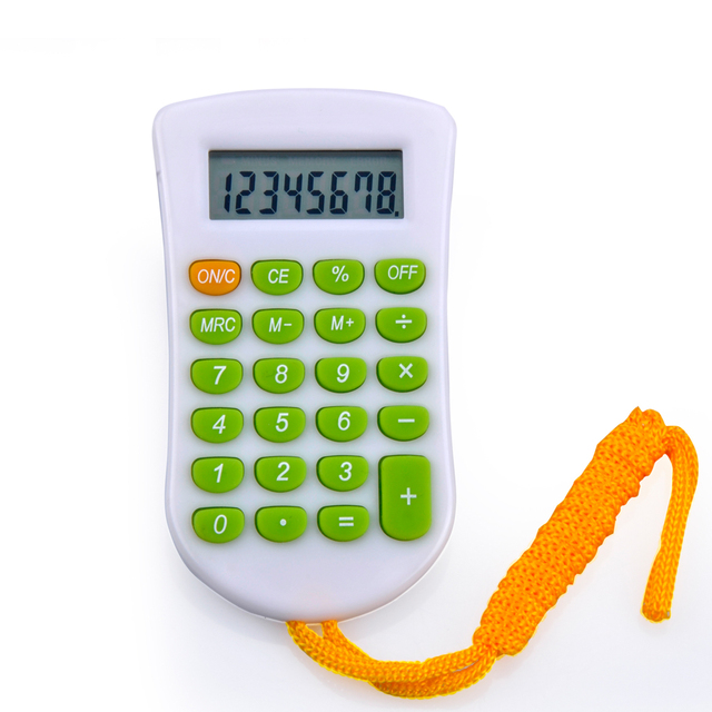 Modern Calculator with Hang Rope Neck Hung Calculator Mini Calculator with Lanyard