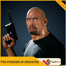 Celebrity Dwayne Johnson silicone sculpture lifesize wax figure