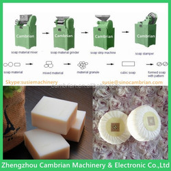 Extruding soap bar soap making machine with mixing and grinding line