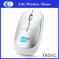 Computer Accessories 2.4Ghz Wireless Logo Printed Mouse Laptop