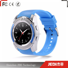 Hot sale round touch screen v8 smart watch for android samrt phone_MO980