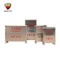 Stainless steel empty fire extinguisher box fire extinguisher cabinet for Supermarket