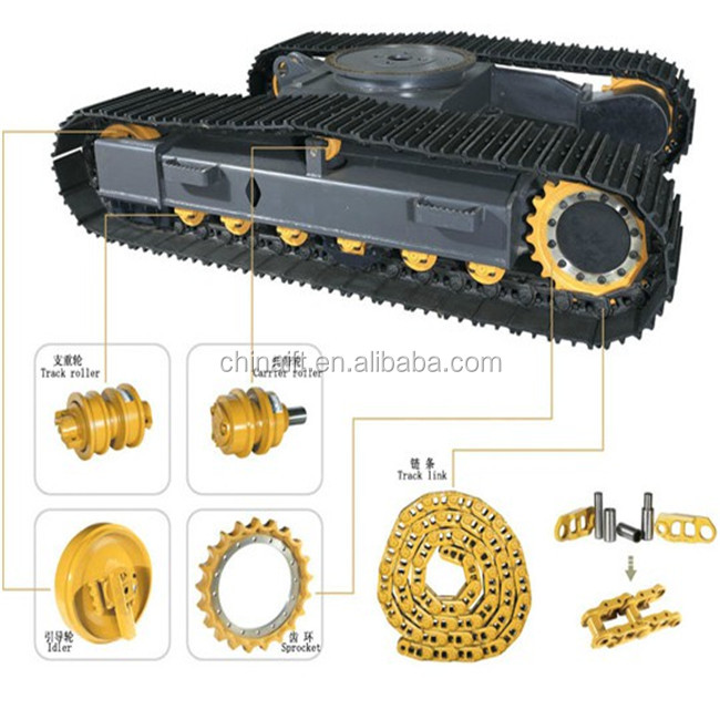 bulldozer front idler sprocket track roller shoe assembly for sale