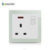 AQUA glass electrical switch plates decorative 13a switch socket outlet