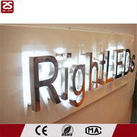 Stainless Steel Led Logo Backlit Led