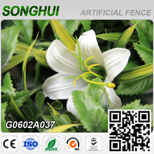 2016 decorative plastic garden fence panel with white flower