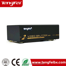 1 input 2 output distributor x2 video distribution duplicator 2 ports VGA splitter 450MHz HDMI / DVI / KVM / matrix