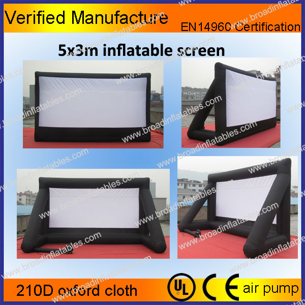 14x9m outdoor inflatable projection screen, inflatable movie screen, inflatable screen