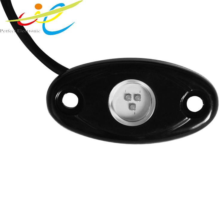 Car accessory,4 pods 2 inch 9W RGB LED rock Bluetooth contral Led tail light