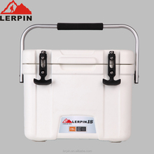 15L insulated beer cooler box with T-shaped rubber latch