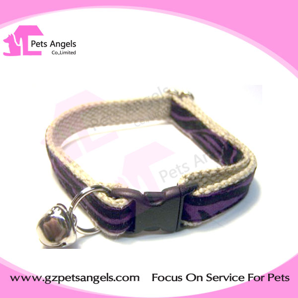 Wholesale Ribbon Cotton Cat collar Dog Collar with bell DIY your dog