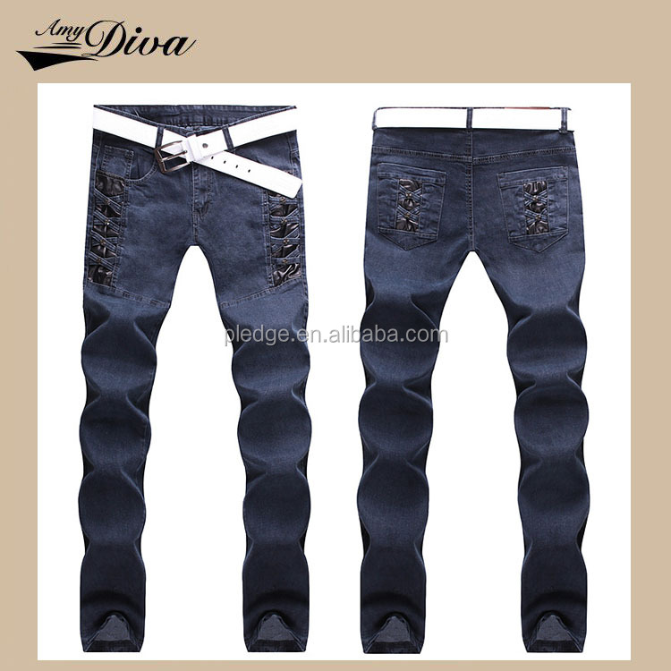 Latest manufacturing machinery price top fashion casual style skinny straight slim jeans pants for men