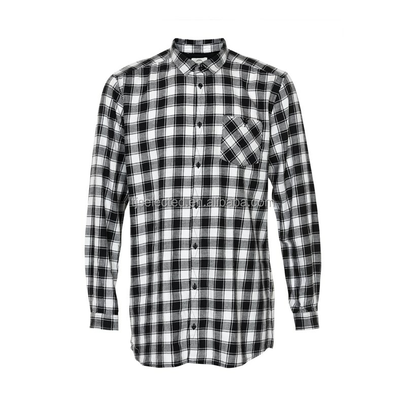 OEM Service for 100% Cotton Yarn Dyed slubbed check Men's Casual Shirts, Long Sleeves per-washed