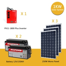 Factory direct Wholesale Cheap 1kw Home Solar Power System