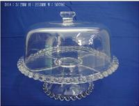 Peal Glass Cake Stand Multifunctional Serving Stand, glass cake dome (6 Uses), transparent customized size cake machine