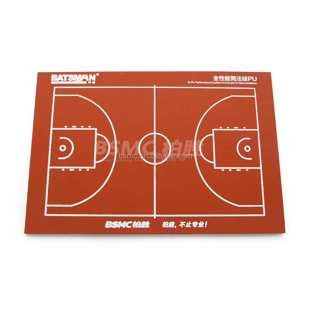 Outdoor Liquid Coating Silicon PU Basketball Court Floor Paint
