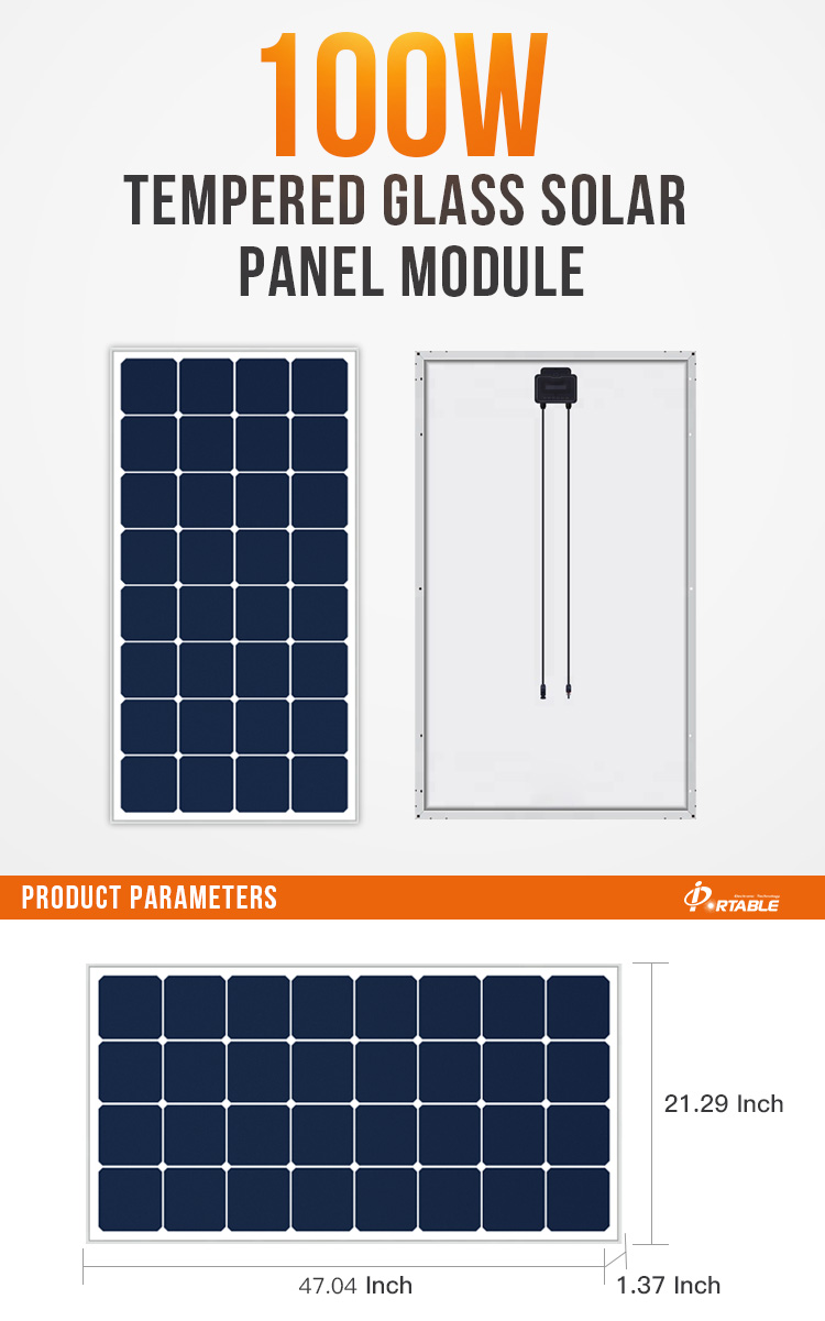 High Efficiency 100w sunpower  solar panel for home system  electricity