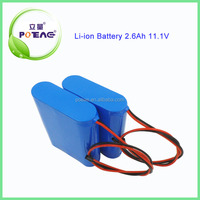 9 years manufacture experience 18650 2600mah 12V lithium ion battery