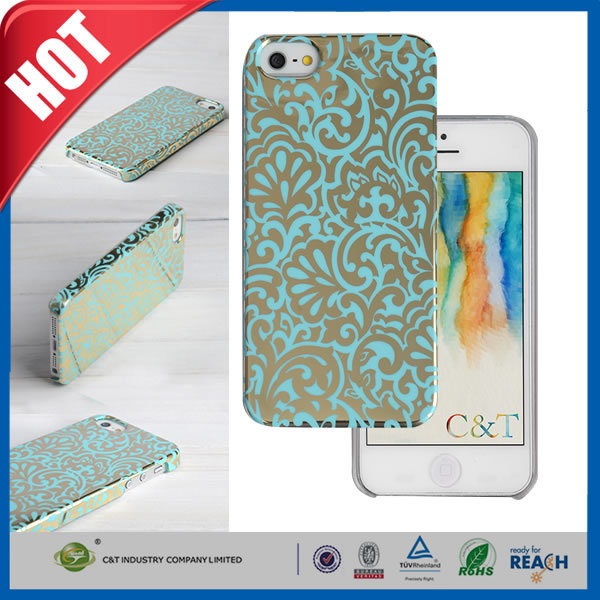 C&T The latest unique Back design crystal clear hard case cover for new iphone 5s