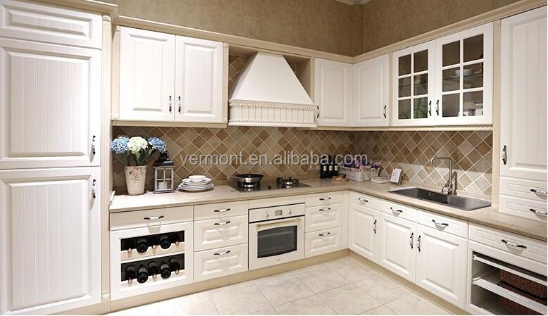 Pantry Keuken Te Koop : houten deur moderne witte keuken kast pvc laminaat-keuken kasten