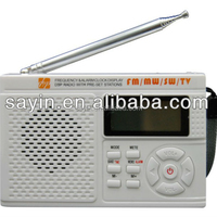 DSP multi-band Radio with LCD display classic radio with built-in speaker and TV band