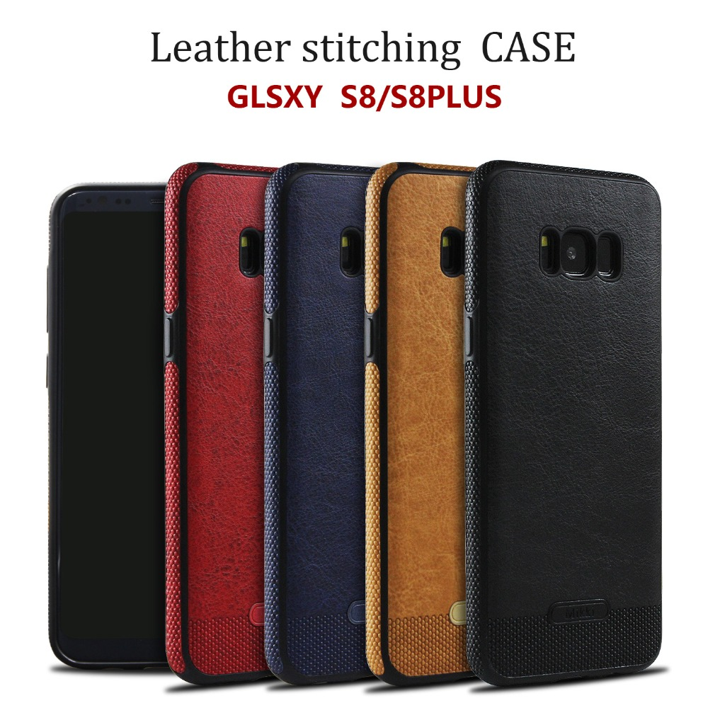 2017 New trending Tpu leather back Case For Samsung galaxy s8 S8 plus