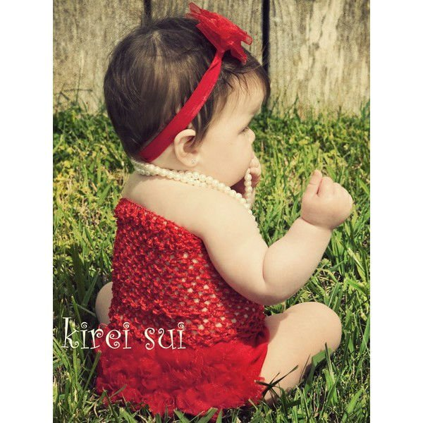Baby Girls Red Tube Top & Petti Bloomer Panties 2 Pcs Set