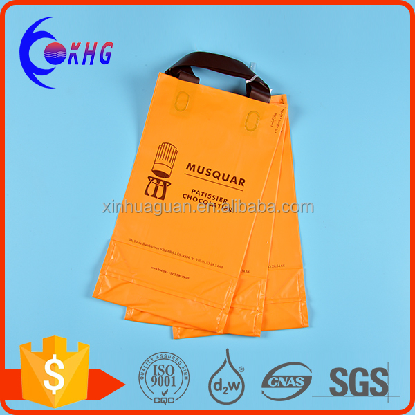 Custom made recyclable clothing package plastic shopping bag with your logo