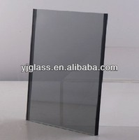 3-19mm grey tinted tempered glass panel with ISO9001