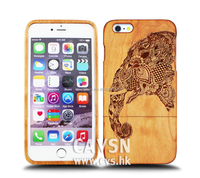 Top quality Cherry wood phone case for iphone6 elephant wood case wholesale price