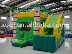 New design cheap bouncer and slide inflatable combo mini indoor playground equipment