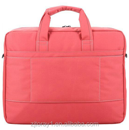 2015 Newest Type Durable Pink Quilted Nylon Lady Laptop Bag for Travel