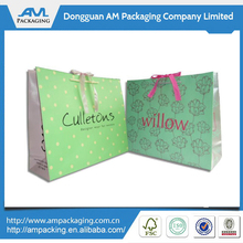 Custom Coated Paper Printed Logo Shopping Bag with Handle Wholesale
