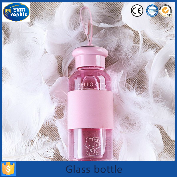 Customize lead free ecological a water glass bottles