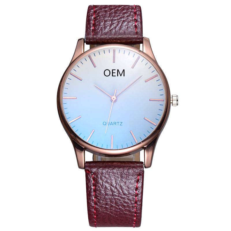 Cheap Custom Branding Watch Leather Band Private Labeling Watch Custom