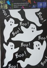 Ghosts Peel and Stick Glow in Dark Wall Sticker