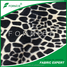 Huzhou fornice Fast dry Animal skin printed fabric/Printing velboa for cushion 100% polyester