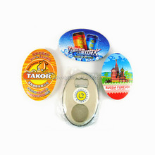 Hot selling custom design oval fridge magnet beer bottle opener for promotion